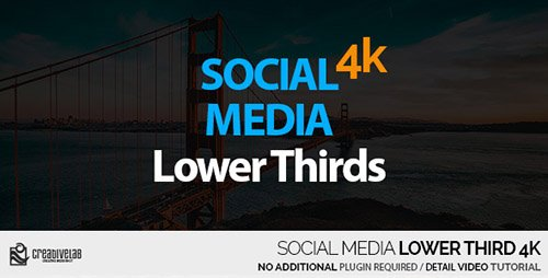 Social Media Lower Thirds 4K - Project for After Effects (Videohive)