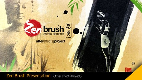 Zen Brush Opener - Project for After Effects (Videohive)