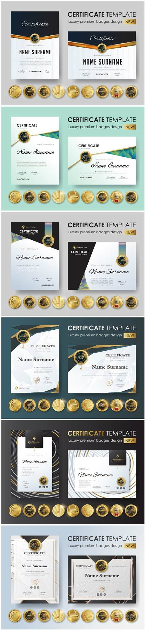 Certificate and vector diploma design template # 77