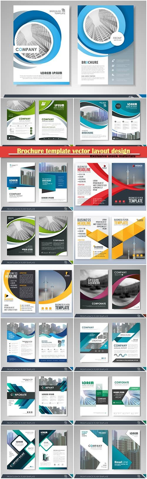 Brochure template vector layout design, corporate business annual report, magazine, flyer mockup # 210