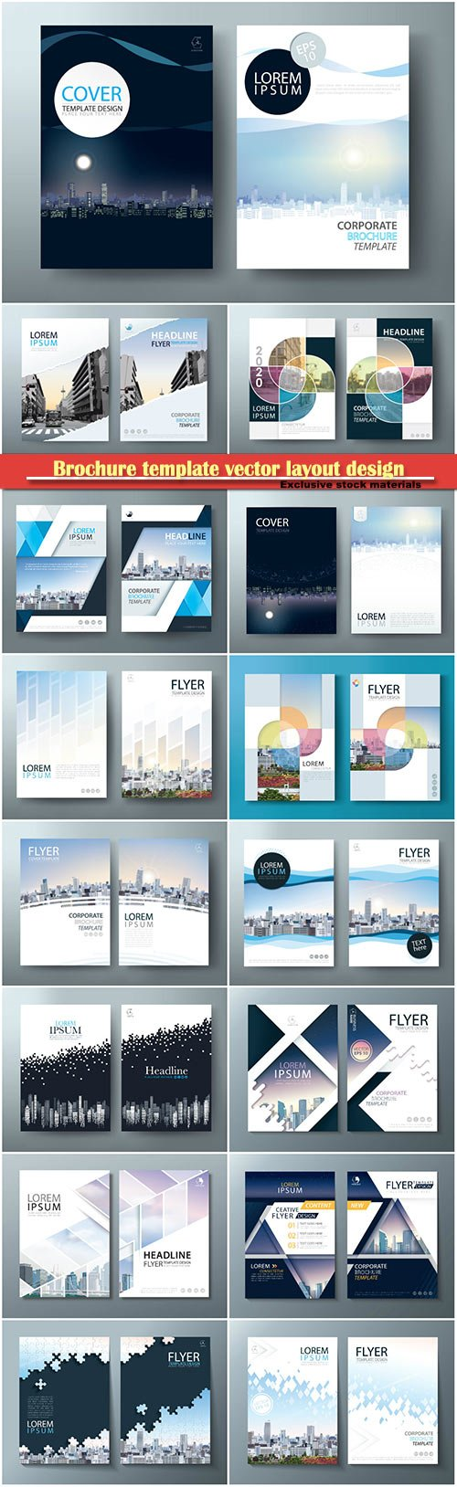 Brochure template vector layout design, corporate business annual report, magazine, flyer mockup # 208