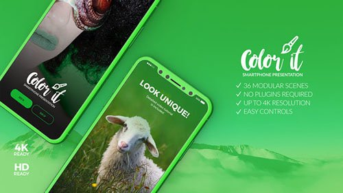 Color it - 3D Smartphone Presentation  - Project for After Effects (Videohive)