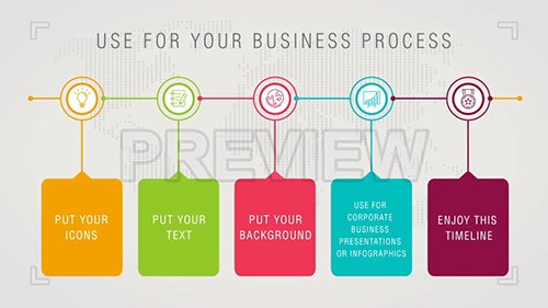 MA - Pack of timeline infographics for your business 99516