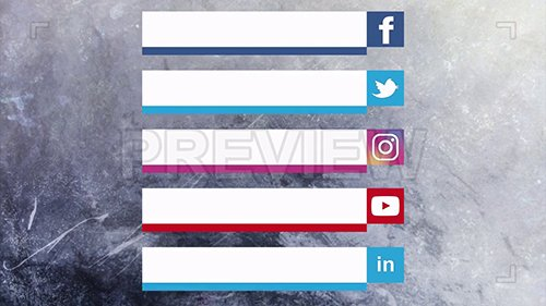 MA - Social Media Lower Thirds Pack 96982