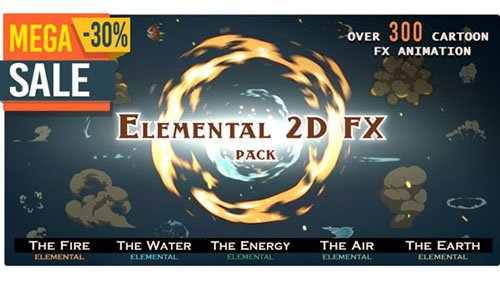Elemental 2D FX pack [300 elements] V.05 -  Motion Graphics & Project for After Effects (Videohive)