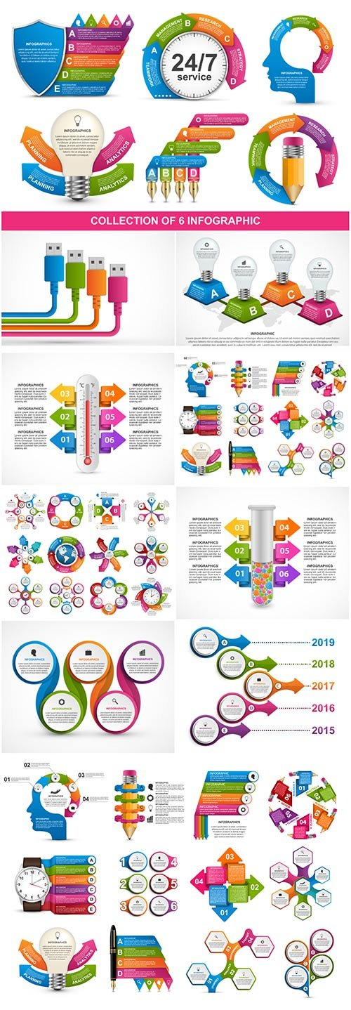 Infographics vector template for business presentations or information banner # 92