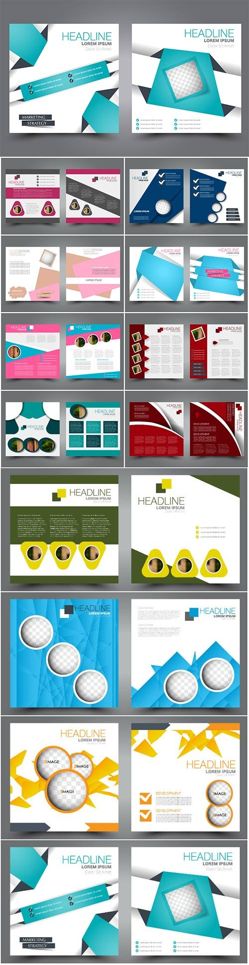 Vector flyer template, brochure design for business and education