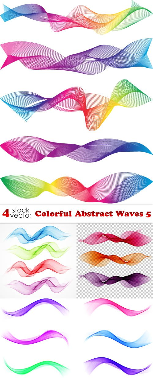 Vectors - Colorful Abstract Waves 5
