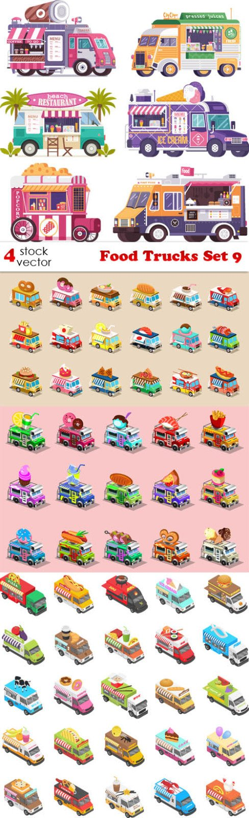 Vectors - Food Trucks Set 9