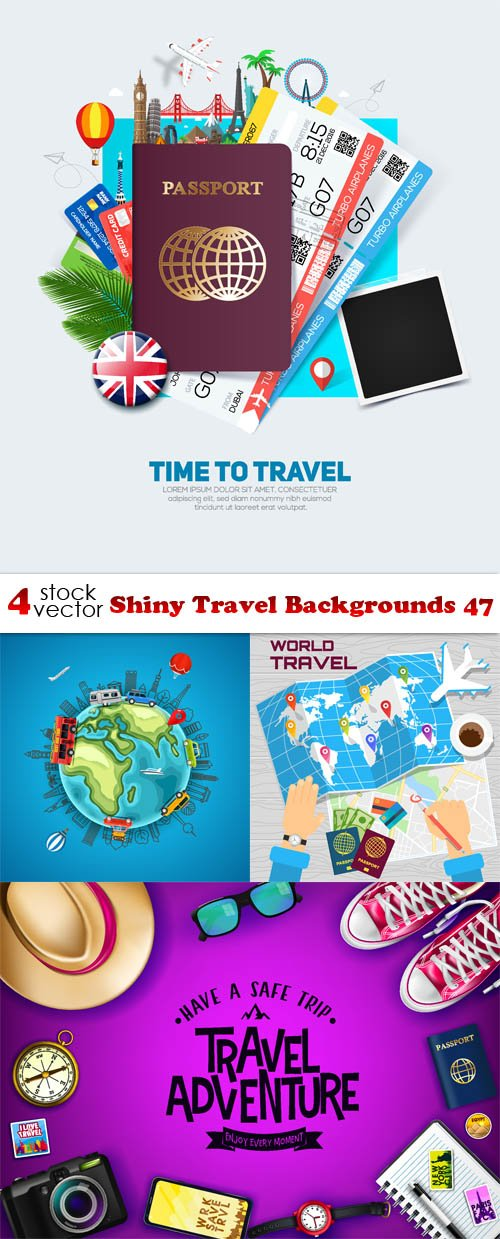Vectors - Shiny Travel Backgrounds 47