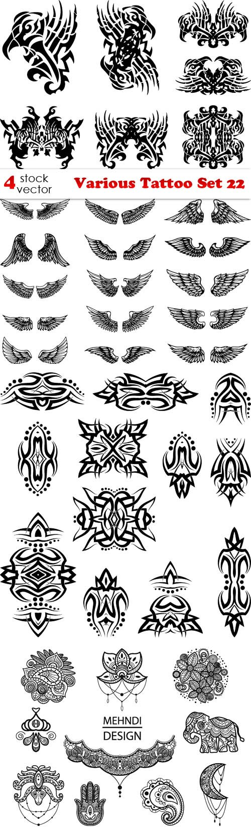 Vectors - Various Tattoo Set 22