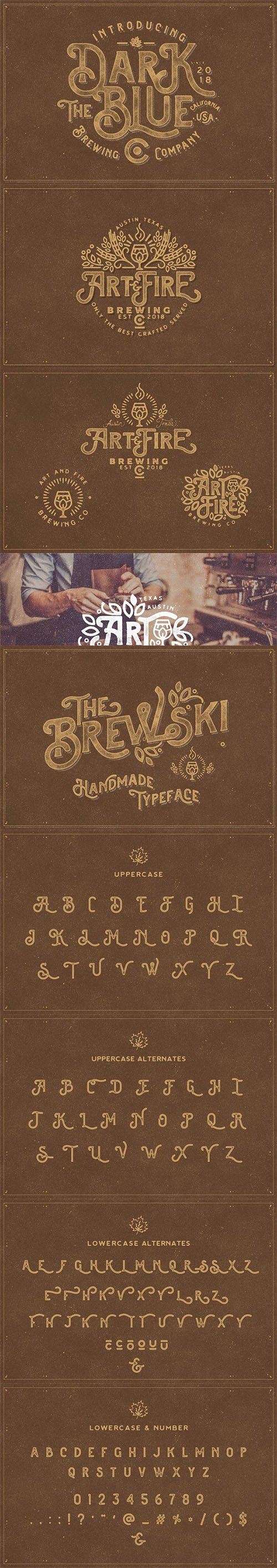The Brewski - Textured Typeface 2872793