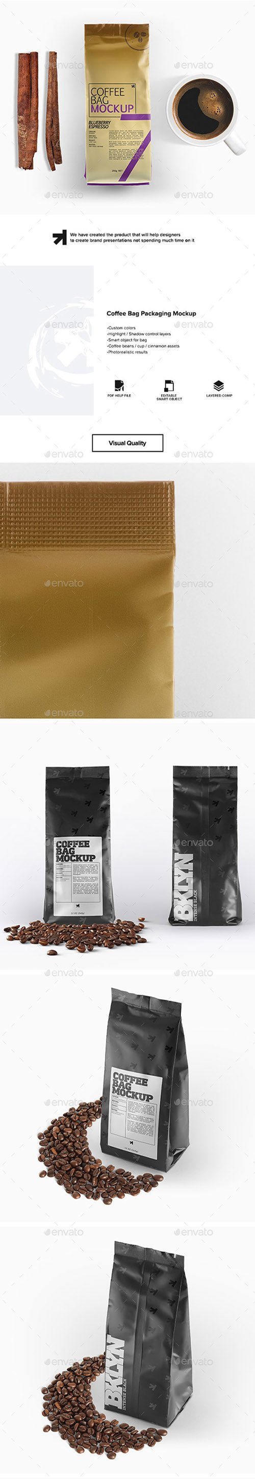 GR - Coffee Bag Packaging Mockup 22500433
