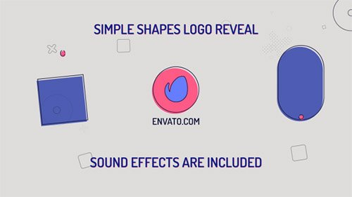 Simple Shapes Logo 21266274 - Project for After Effects (Videohive)