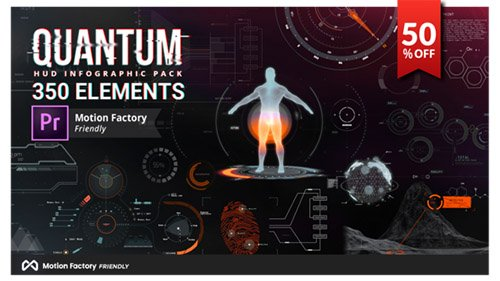 Quantum HUD and HiTech Elements - Project for Premiere Pro (Videohive)