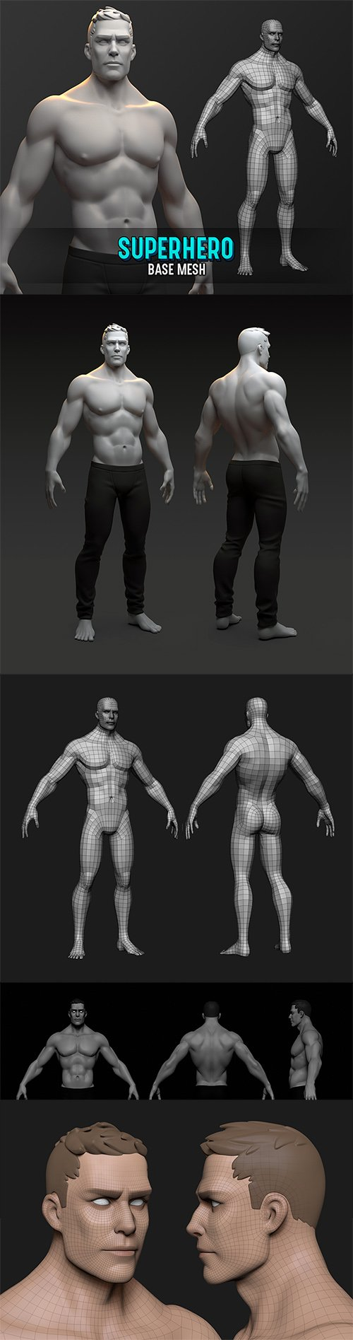 Superhero Base Mesh