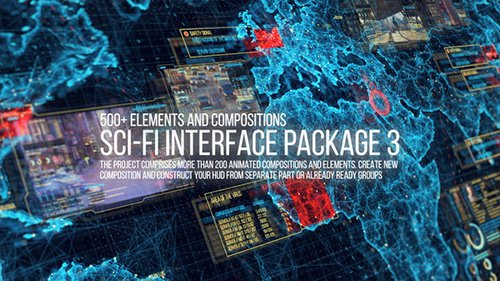Sci-fi Interface HUD Package 3 - Project for After Effects (Videohive)