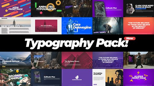 Typography Pack 22386437 - Project for After Effects (Videohive)