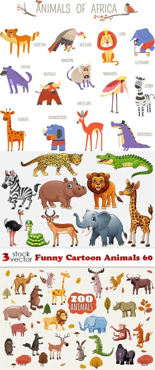Vectors - Funny Cartoon Animals 60