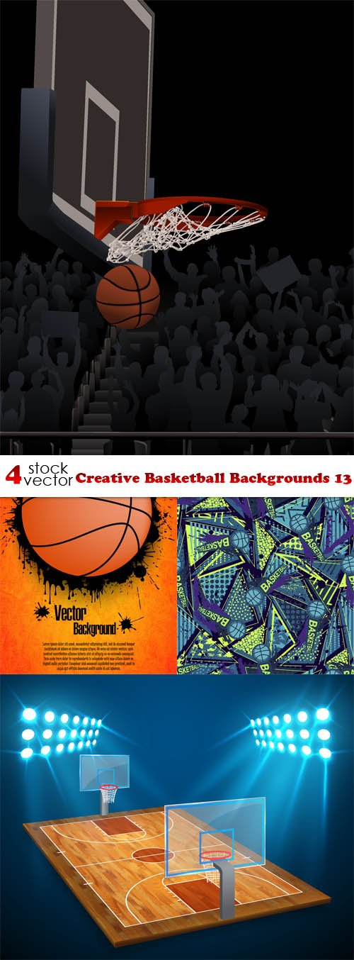 Vectors - Creative Basketball Backgrounds 13