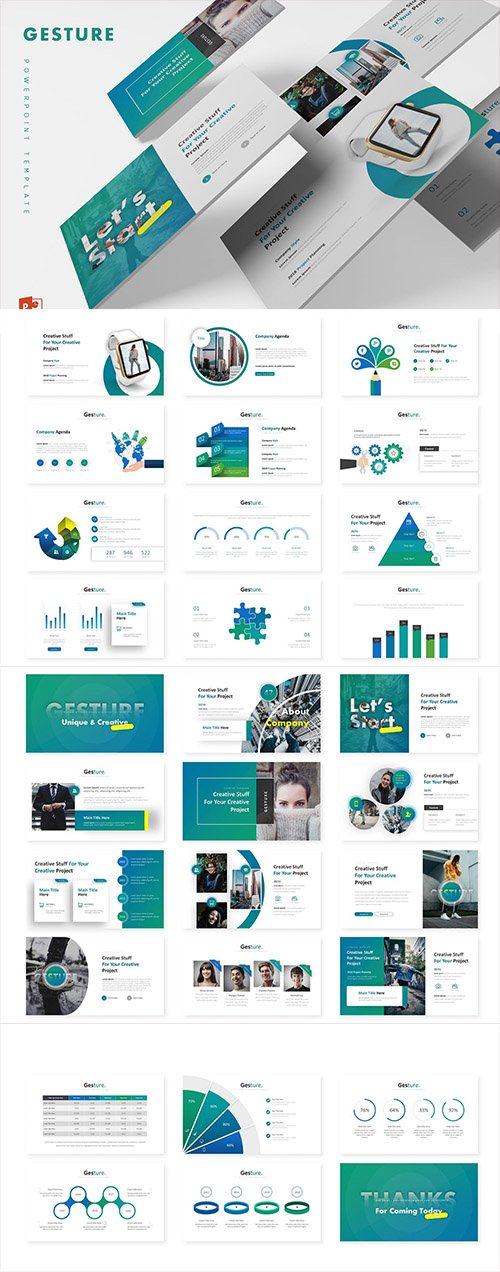 Gesture - Powerpoint, Keynote and Google Sliders Templates