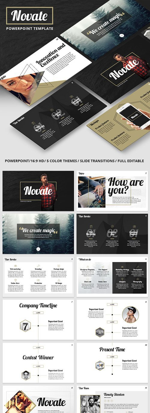 GR - NOVATE - Creative PowerPoint Presentation Template 16040888