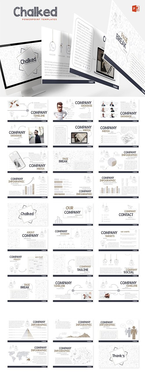 Chalked - Powerpoint, Keynote and Google Sliders Templates