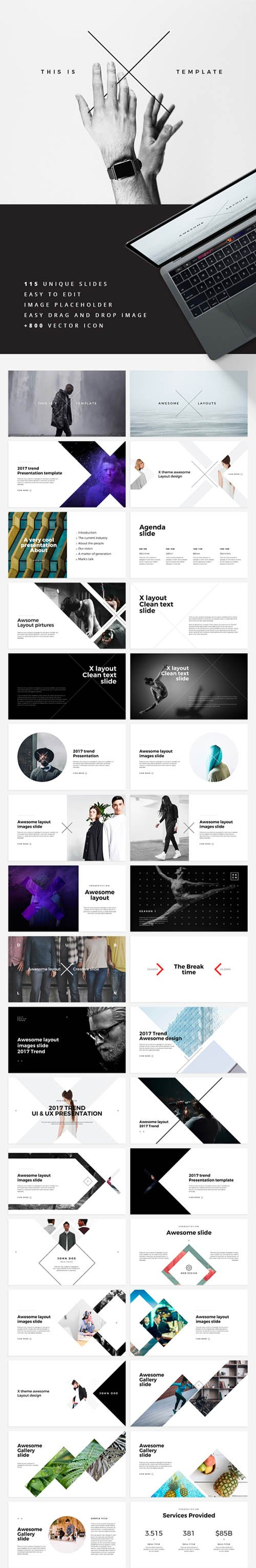 GR - X Powerpoint Template 19612198