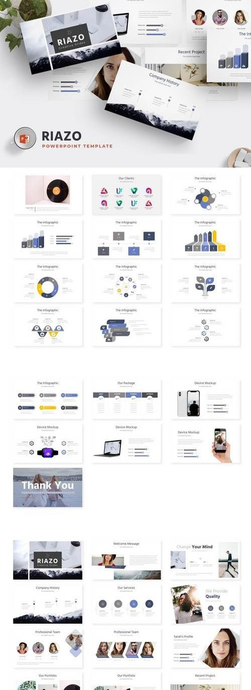 Riazo - Powerpoint, Keynote and Google Sliders Template