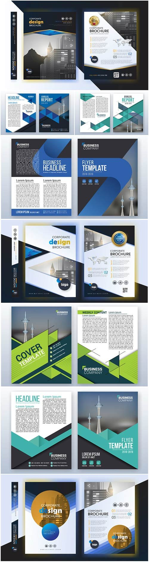 Brochure template vector layout design, corporate business annual report, magazine, flyer mockup # 213