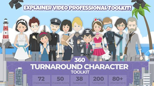 360 Turnaround Character Toolkit - Project for After Effects