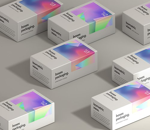 Boxes Packaging Set Mockup
