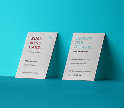 Business Card Branding Mockup 4