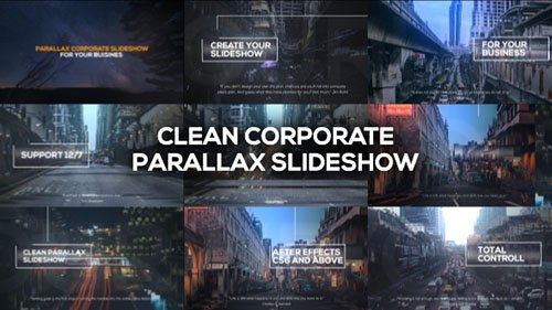 Clean Corporate Parallax Slideshow - Project for After Effects (Videohive)