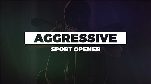 Aggressive Sport Opener 20355902 - Project for After Effects (Videohive)