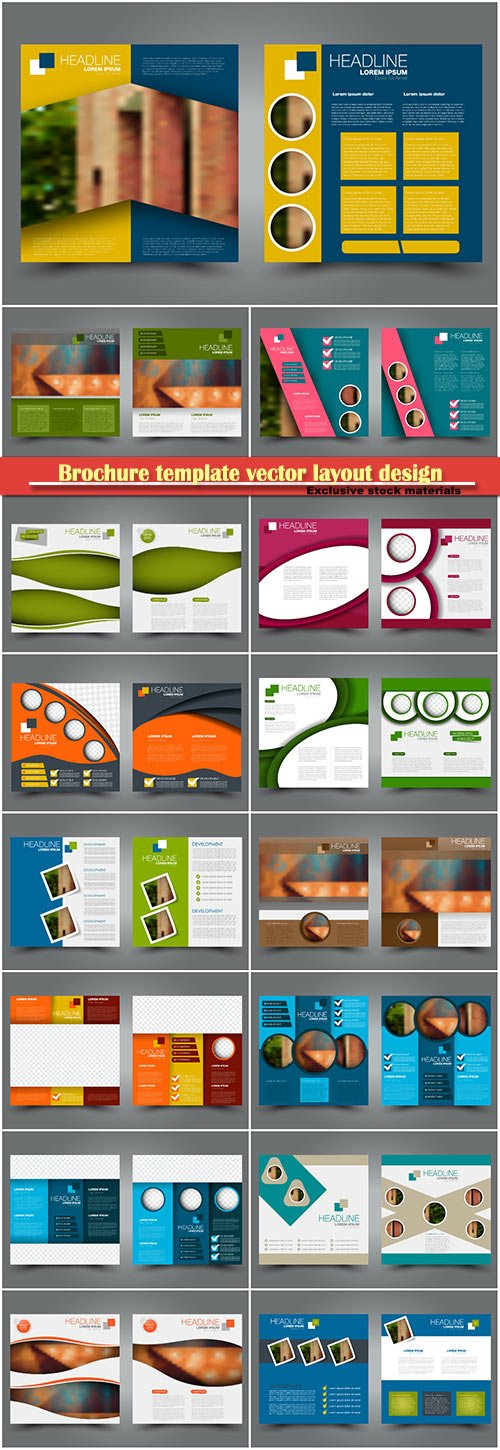 Brochure template vector layout design, corporate business annual report, magazine, flyer mockup # 220