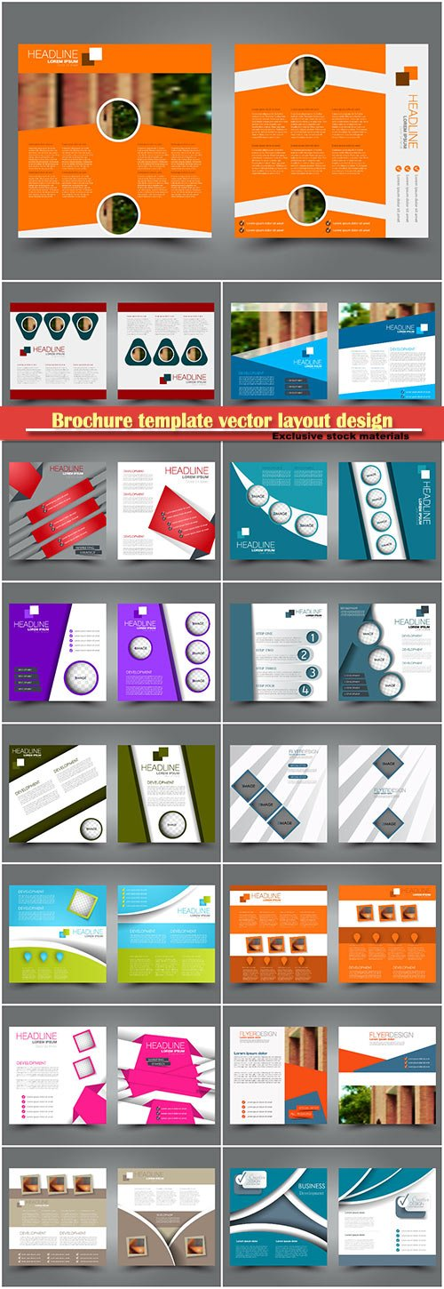 Brochure template vector layout design, corporate business annual report, magazine, flyer mockup # 221