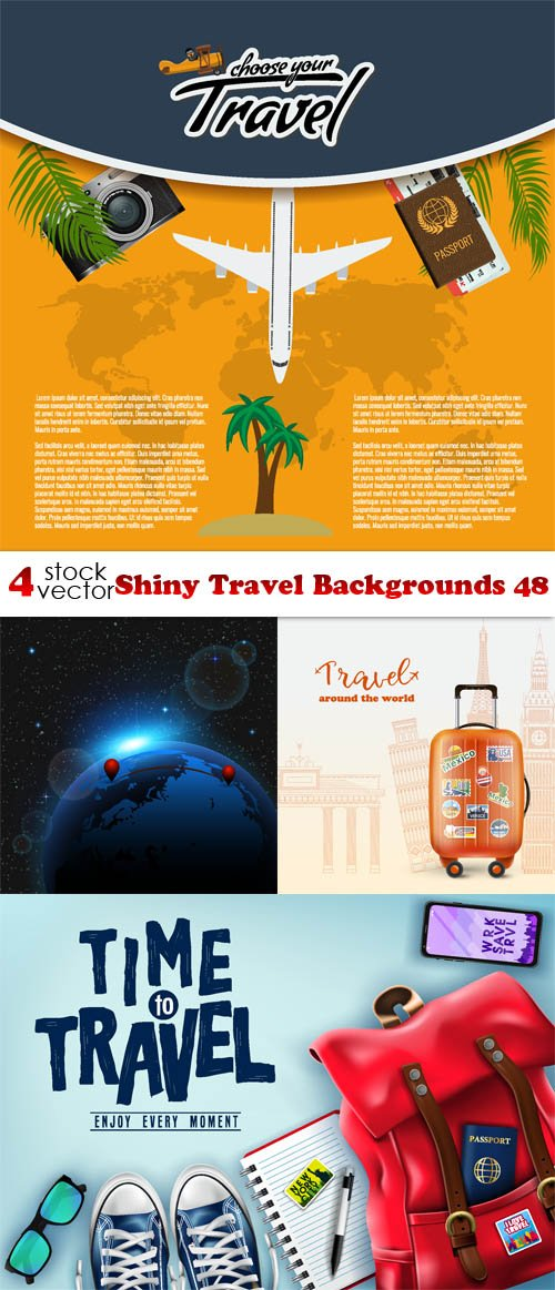 Vectors - Shiny Travel Backgrounds 48