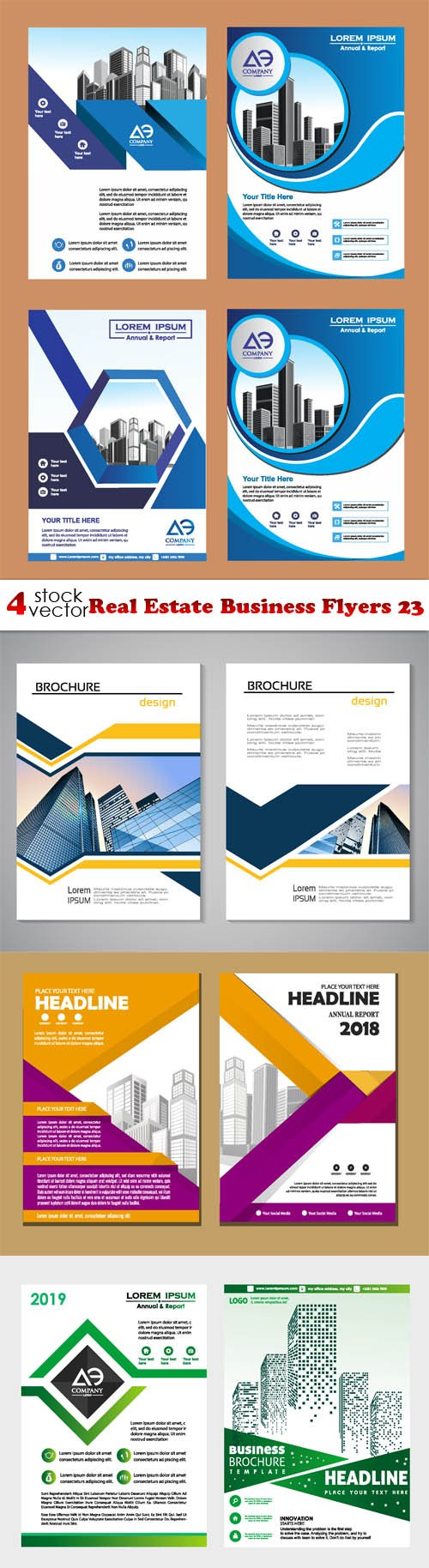 Vectors - Real Estate Business Flyers 23