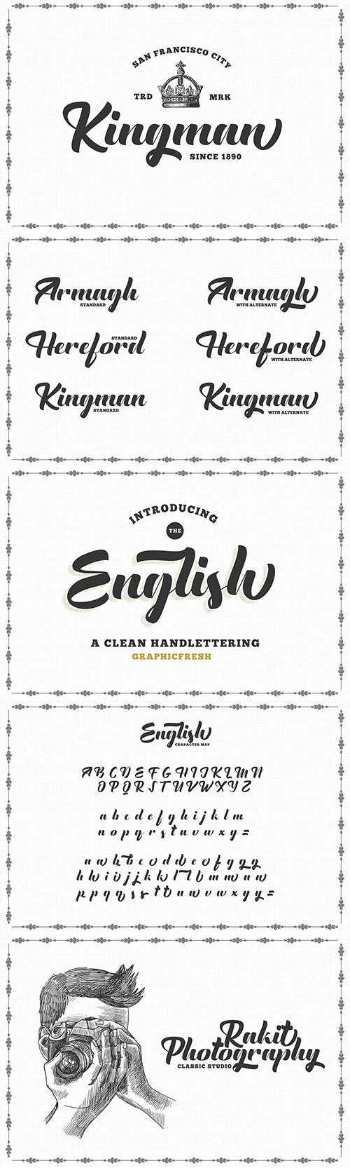 The English Font - Vintage Lettering 2907889