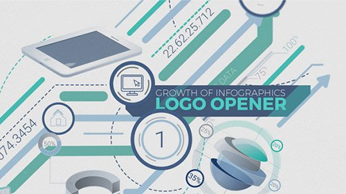 Growth Of Infographics Logo Opener - Project for After Effects (Videohive)