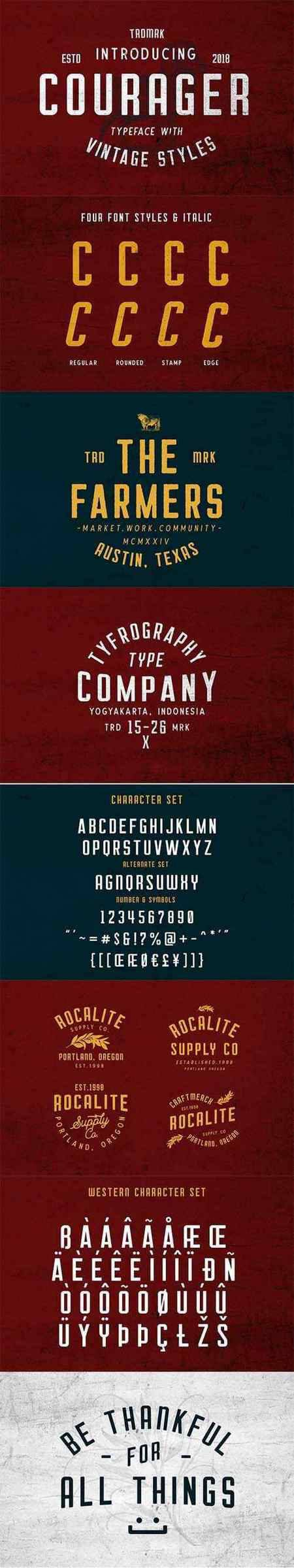 Courager Typeface 2573591
