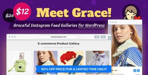 CodeCanyon - Instagram Feed Gallery v1.1.5 - Grace for WordPress - 20429911