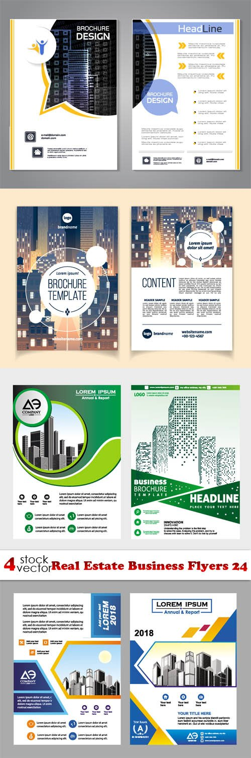 Vectors - Real Estate Business Flyers 24