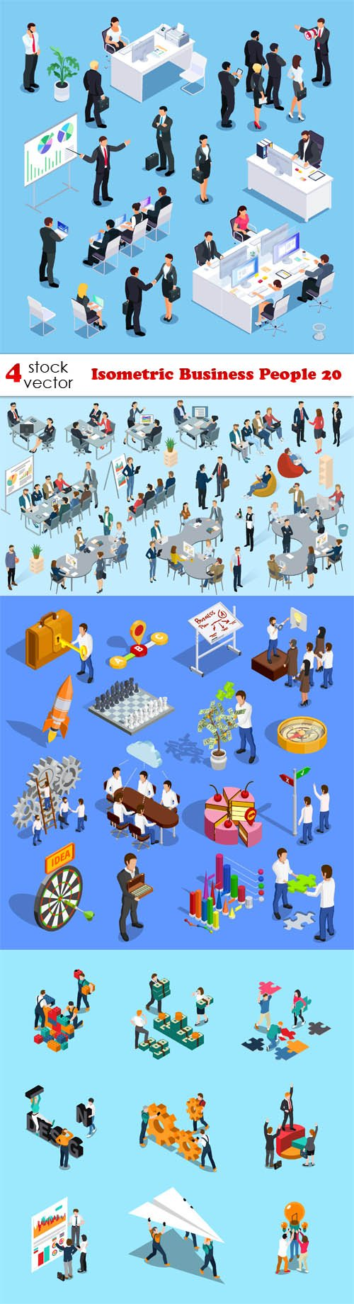 Vectors - Isometric Business People 20