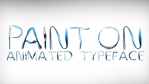Paint On Animated Typeface - Project for After Effects (Videohive)