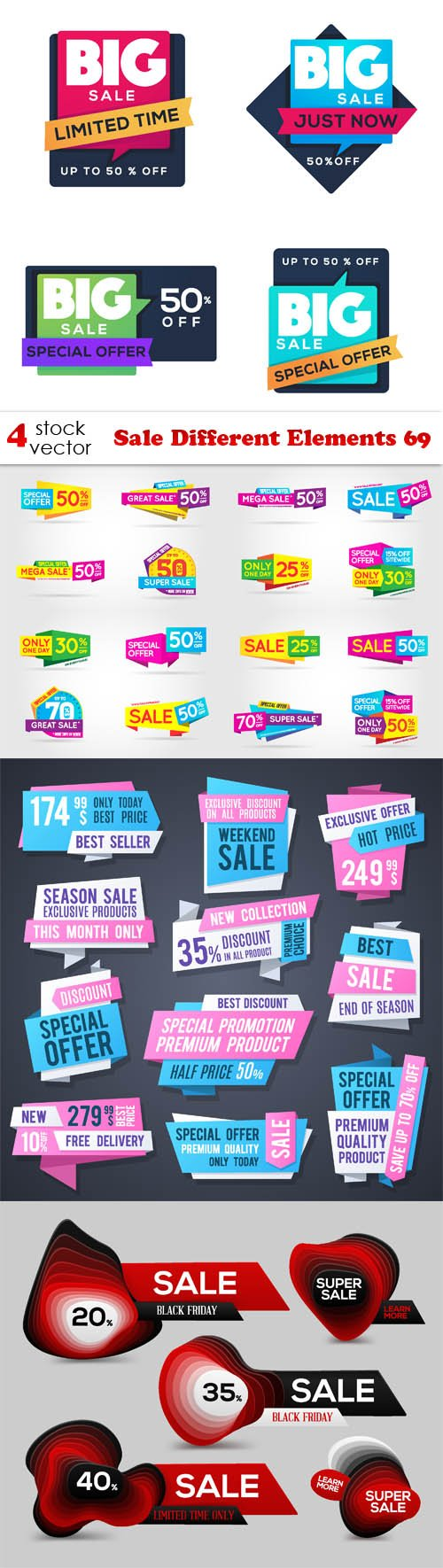 Vectors - Sale Different Elements 69