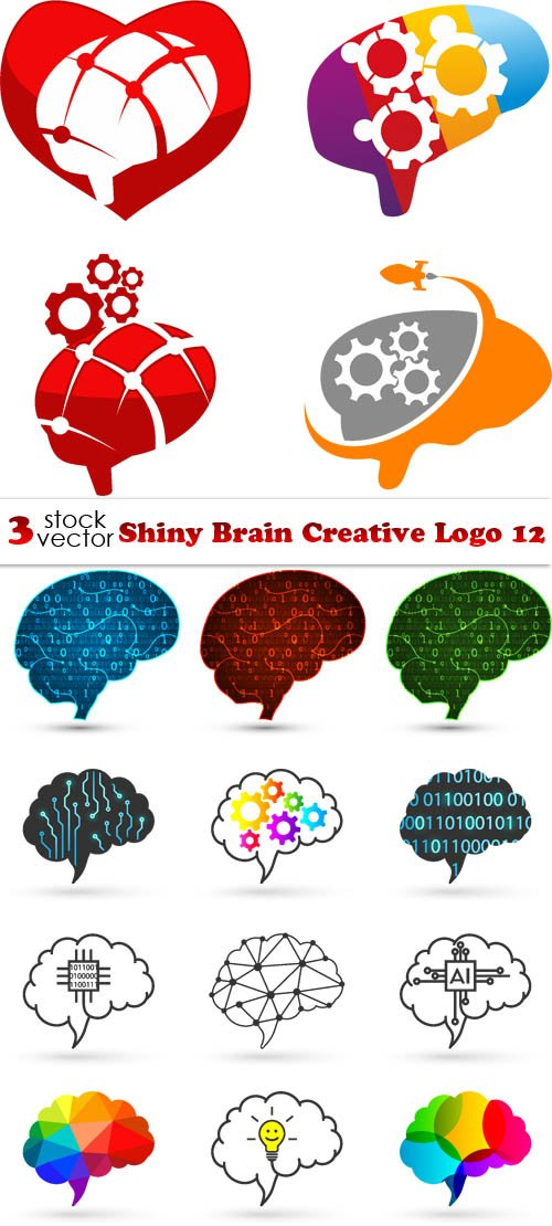 Vectors - Shiny Brain Creative Logo 12