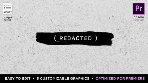 Redacted Titles | MOGRT for Premiere Pro - Premiere Pro Templates (Videohive)