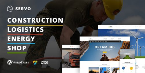 ThemeForest - Servo v1.0.0 - Construction / Logistics / Energy Engineering / Shop theme - 20462444